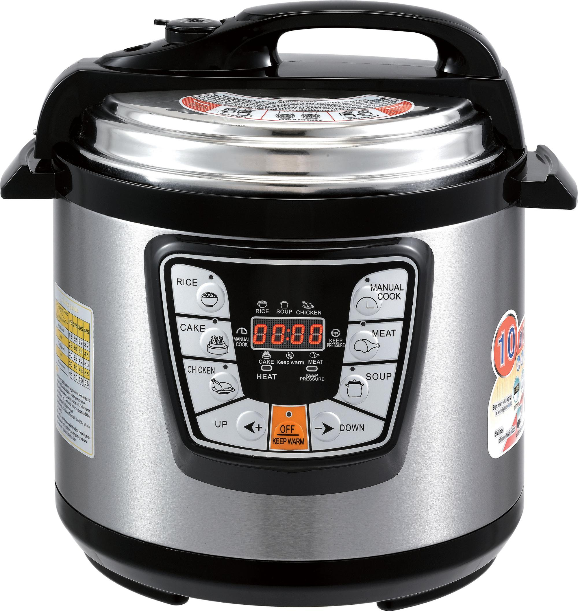 6L 6 Quart Multi Functie Pot Rvs 8 In 1 Snelkookpan