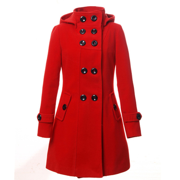 df87be0b76ea8 Get Quotations · Winter Coat Women 2015 Double Breasted Hooded Women Wool  Coat Oversize Women Wool Trench Coat Parka