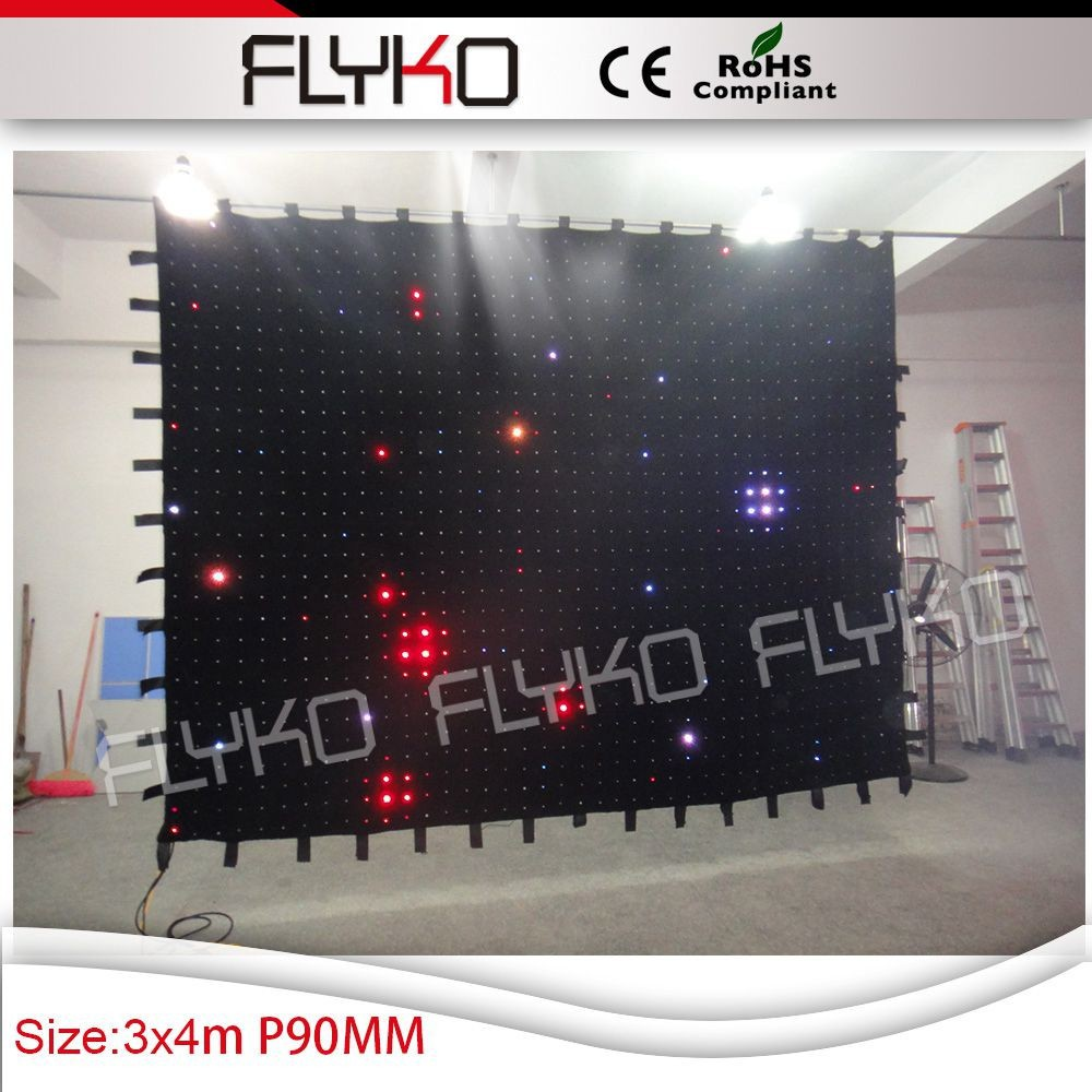 2015 led video curtain screen For Stage backdrop