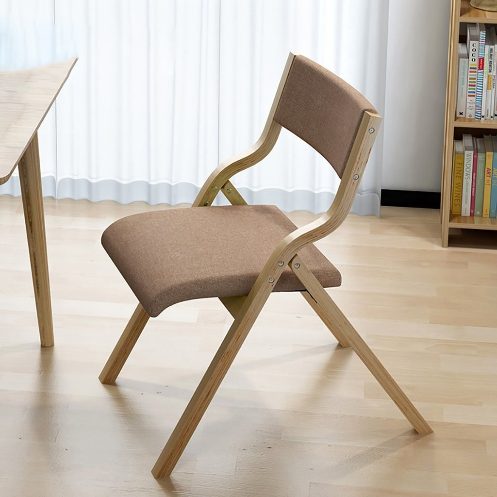 fold up chairs Solid wood home folding chair modern simple cloth folding chair/conference chair (Size:47 63.5 73cm) Folding Chairs (Color : C)