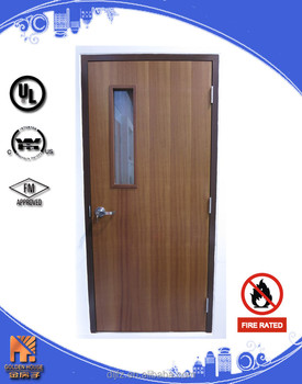 20 Minutes Wooden Door Fire Rated Wood Door With Glass - Buy Woodne ...