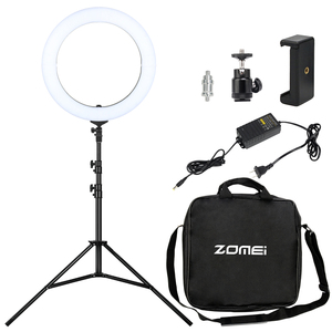 "Zomei 18"" 2700-5700K Ring Flash LED Camera Photography Fill-In Light Studio Light"