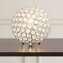 Hot Selling Chrome Metalen Bal <span class=keywords><strong>Uplight</strong></span> Luxe Kristal Tafellamp