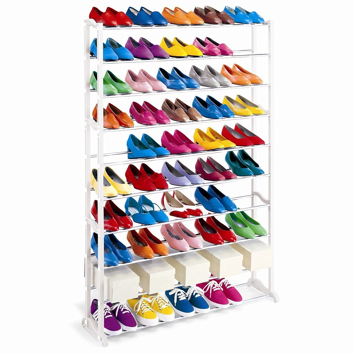 Buy 50 Pair Shoe Rack White Metal Quality Shoe Rack Shoe