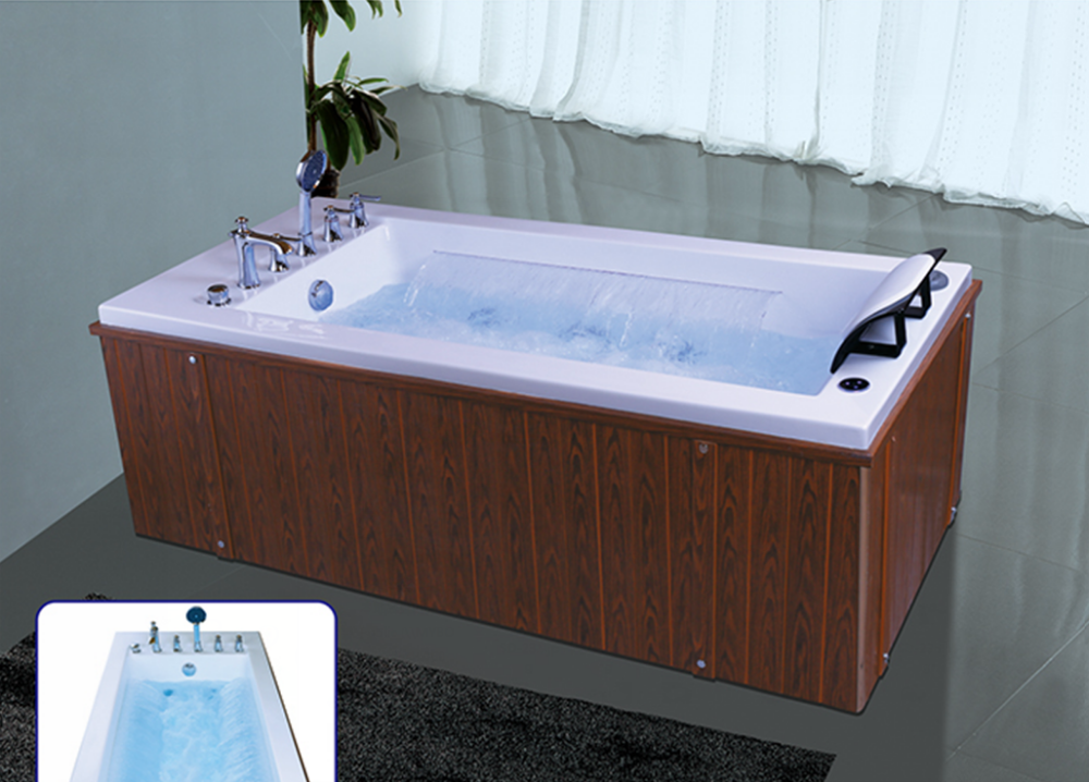 Acrylic classical bathtub adult portable bathtub outdoor for Acrylic soaker tub