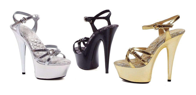 "Ellie Shoes Women's 609-KENDALL 6"" Stiletto Heel Sandal w/2"" platform"