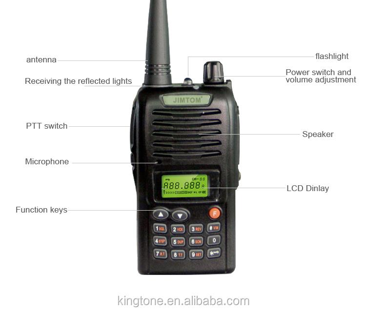 108 138MHz Kingtone Handheld Two Way Radio AM FM Walkie Talkie Air Band Transceiver