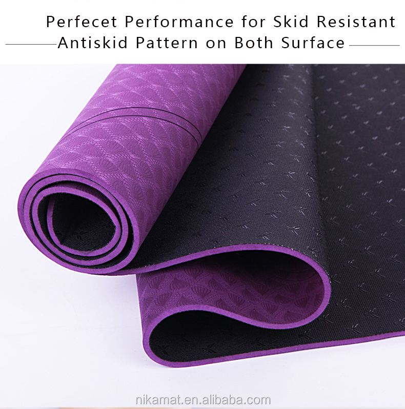 Wholesale ECO TPE Silicone Yoga Mat Factory China, OEM Custom Print Non Skid Yoga Mat Private Label