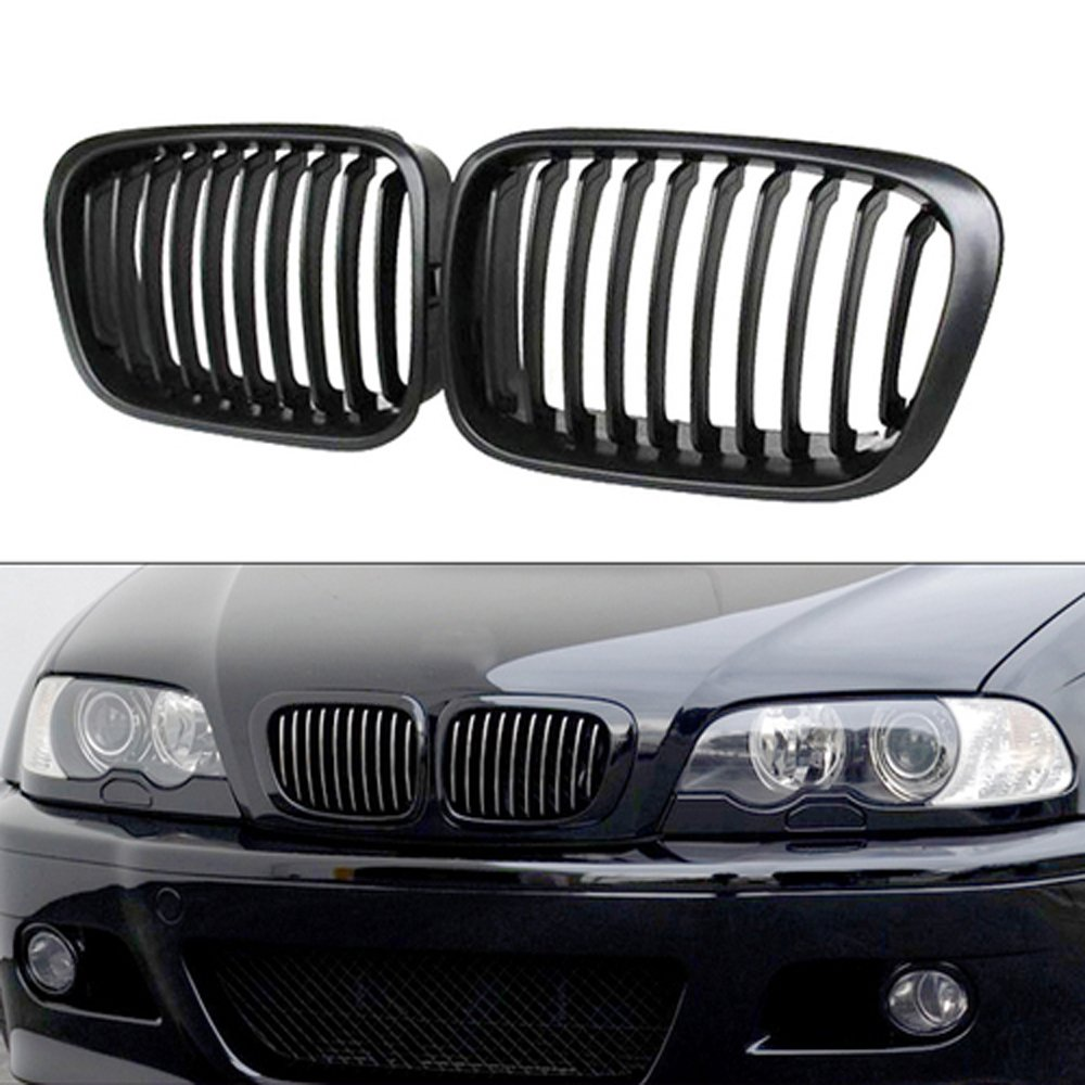 Heart Horse Front Kidney Grille Grill for 1998-2001 BMW 3 Series E46 320i 323i 325i 328i 330i Sedan 4-Door Replacement Gloss 98-01 BMW Grill