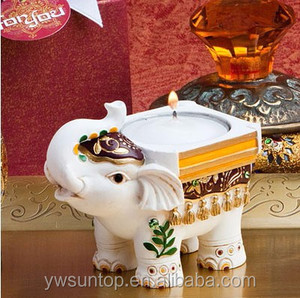 Hot Selling Indian Elephant Candle Holder for Wedding Decoration Birthday Party Gifts Celebration Favor