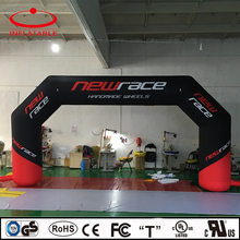 inflatable sport finish line event race arch with logo printing