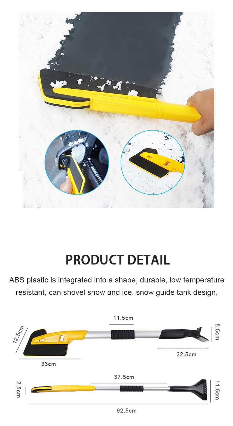 QJ-S-007 Multifunction snow brush for car with ice scraper car cleaning brush