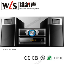 WLS HiFi multimedia Mini sistema <span class=keywords><strong>de</strong></span> home theater Portátil <span class=keywords><strong>CD</strong></span> player com design profissional
