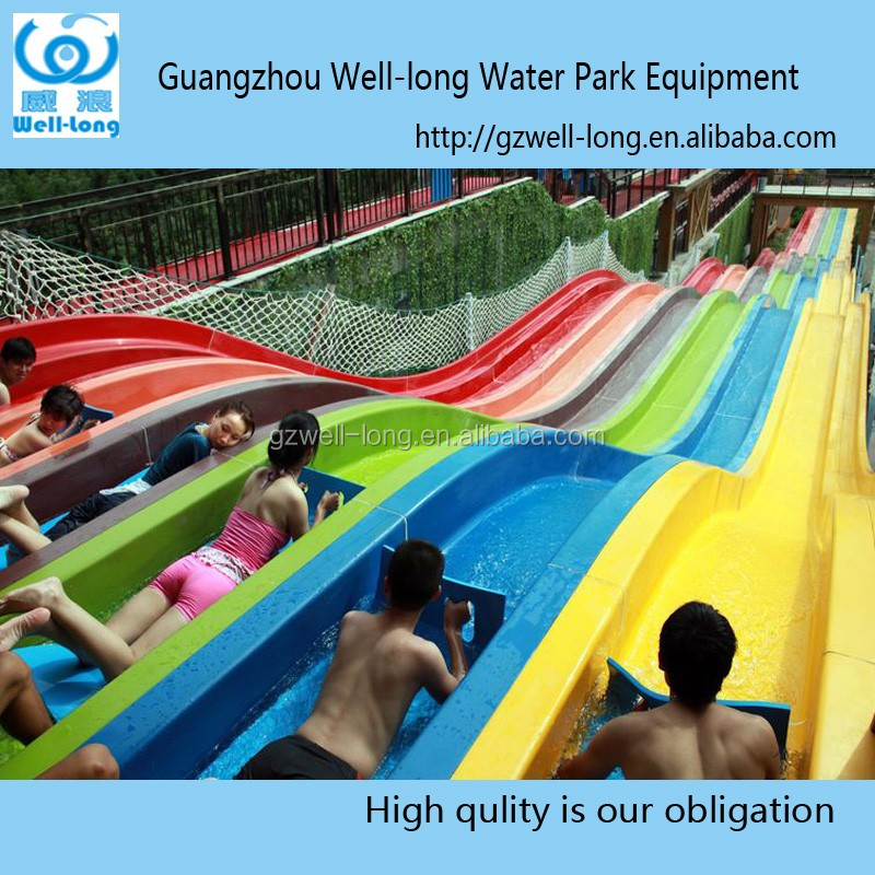 WLHT-012 Thrilling Water Park Equipment Rainbow Water Slide for Race <strong>Manufacturers</strong> in China