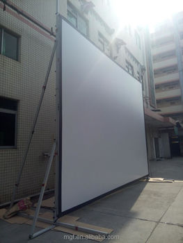 outdoor rear projection screen Products 1 - 72 of 140 outdoor projector screens are very popular whether it's for neighborhood block parties, family movie night, or town events the party's been moved outdoors with outdoor projection screens ranging from small, medium, large to hugethere's a size for every application some outdoor.