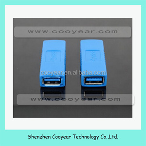 Blue USB 3.0 Type Female to Female Connector Adapter Coupler Gender Changer