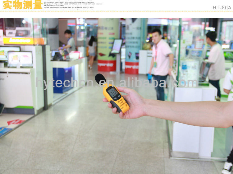 <HT-80A> Latest mini Sound Level Analyzer;Sound Dosimeter;Programmable Sound Level Meter with level range 35~130dB