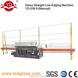 best price 9 spindles manual glass grinder machine