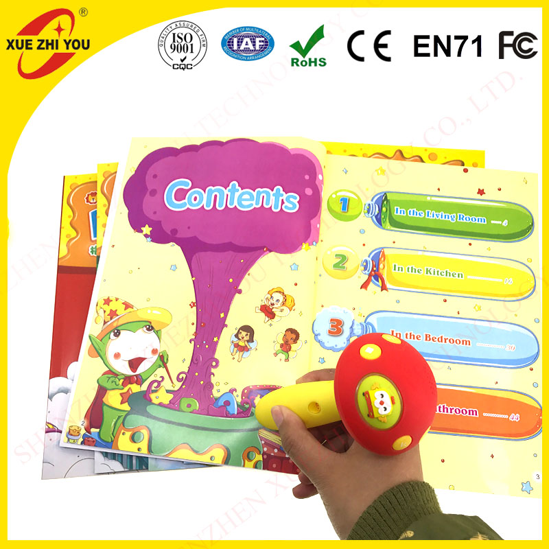 Education audio pen children learning toy with audio books talking pen