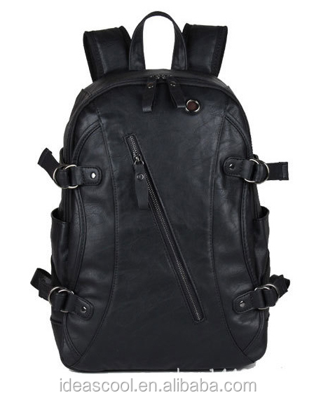 Backpack For Men Sport Travel PU Leather 19 inch waterproof laptop backpack bags