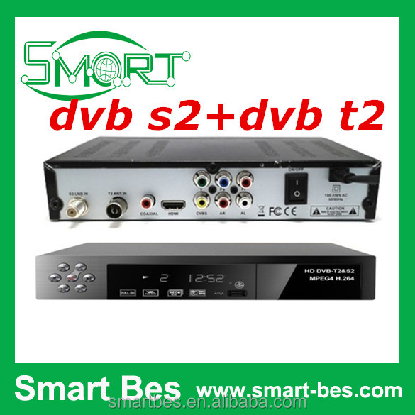 Smart Bes New dvbs2 dvbt2 combo HDTV television set-top box dvb s2+dvb t2