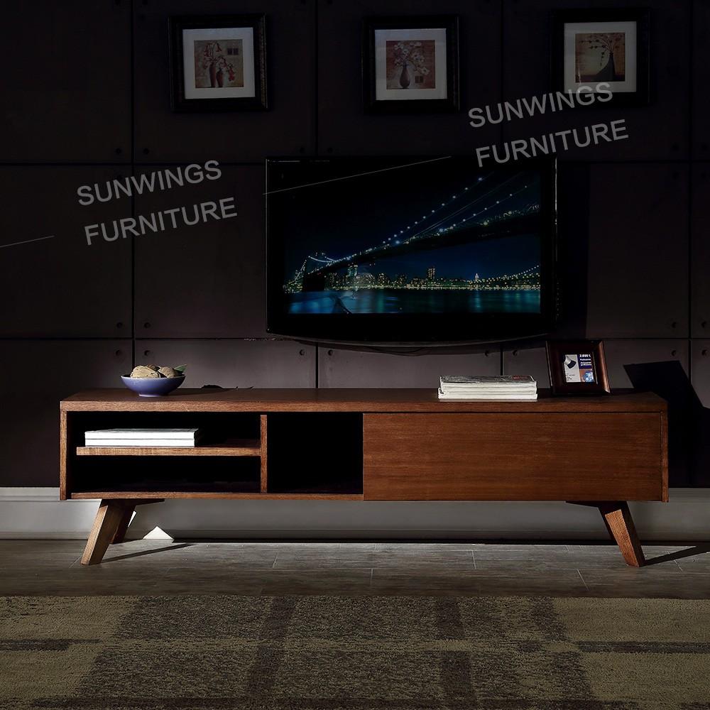 beste prijs woonkamer moderne tv kast ontwerpen in massief hout-tv ...