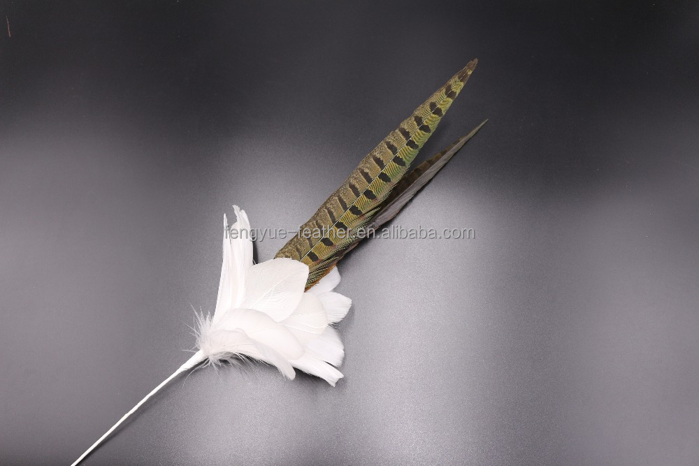 Feather mount flower Millinery