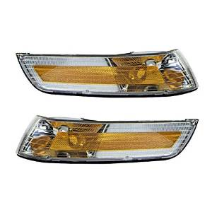 1995 1996 1997 Mercury Grand Marquis Turn Signal Marker Light (Without Park Corner Lamp, with Single Bulb Type) Set Pair Left Driver And Right Passenger Side (95 96 97)