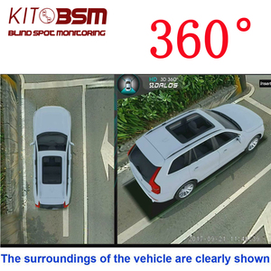 Fish View System 3D 360 Degree Rotation All Round View Car Parking Panorama Camera with Hidden Camera