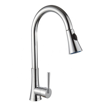 China factory kitchen water faucet brass chrome pull out kitchen sink tap