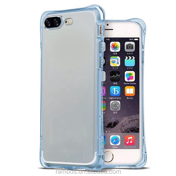 For iPhone 5 5S Hybrid Rubber Shockproof TPU Clear Back Cover Transparent Case