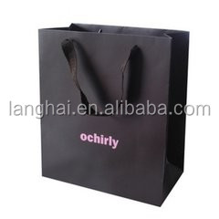 navy blue paper shopping bag,new fashion custom paper shopping bag,oem paper shopping bag