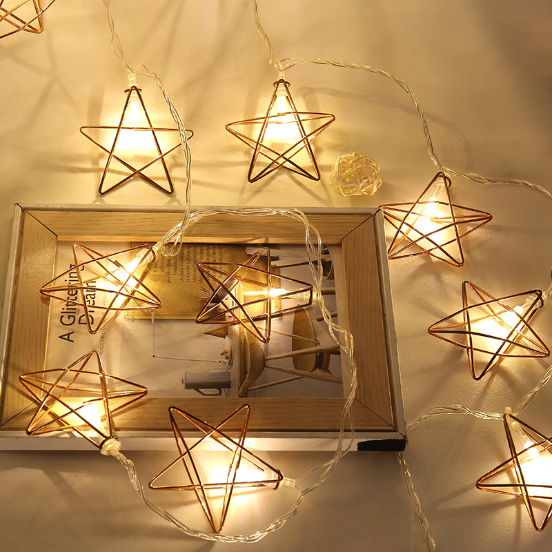 Star 50 Leds String Lights Battery Operated Led Copper Wire Starry ...