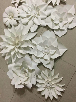 wholesale backdrop large rose giant paper flower for wedding wall decoration