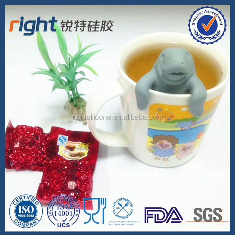 Fancy silicone tea infuser Mr tea bag