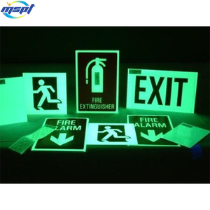 Custom printed and shape self adhesive vinyl label stickers glow in dark for 4 hours