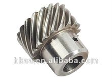 micro stainless steel helical gear for paper shredder, laser printer gear