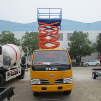 dongfeng 100HP double cabin 12m aerial work platform truck for sale