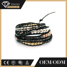 OEM supplied woven friendship bracelets, lava bead bracelet, custom rope bracelet