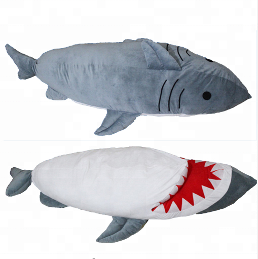Hotsale Pop Giant Shark Plush Toy Sleeping Bag Bite Me Plush Sharks