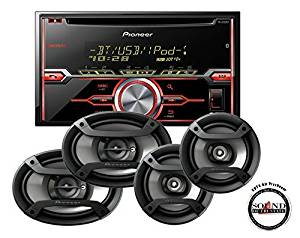 """Pioneer In-Dash Double Din Bluetooth CD Player with TS-695P 6x9"""" and TS-165P 6.5"""" Speaker Package with a FREE SOTS Air Freshener"""