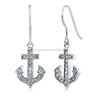 Cross Dangle Earrings For Men 925 Sterling Silver Daily Wear