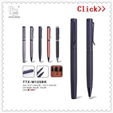 2018高価値プロモーションブラックメタルボールペン付きカスタムロゴボールペン
