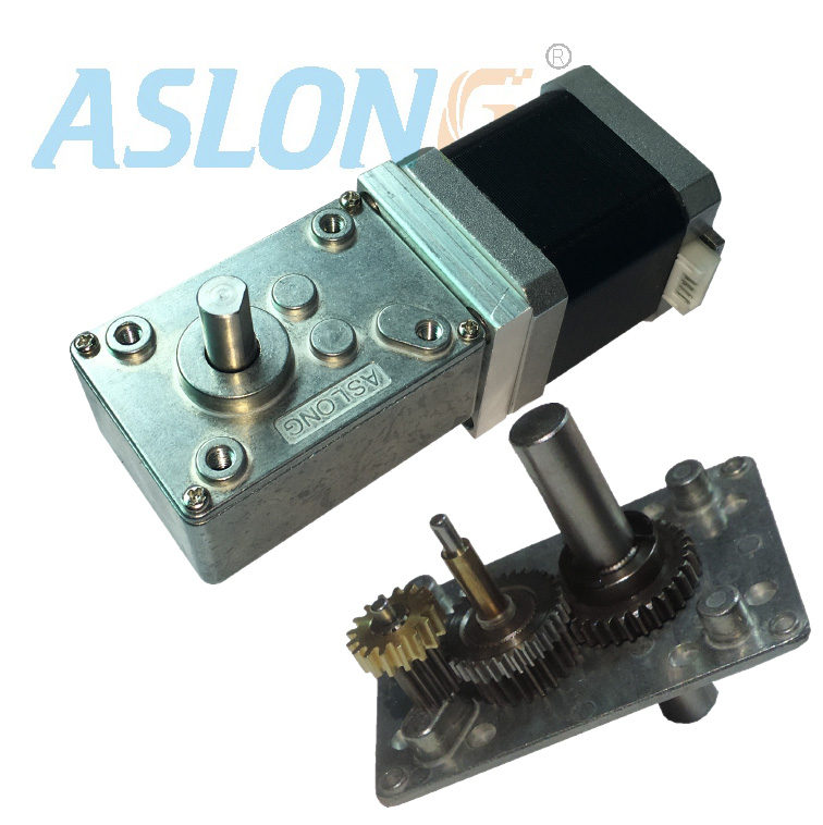 A58SW-42BY Worm Stepper  Gear  Motor With 1.8 Degree 2phase 4wires stepping gear motor hubing gears reductor factory supply