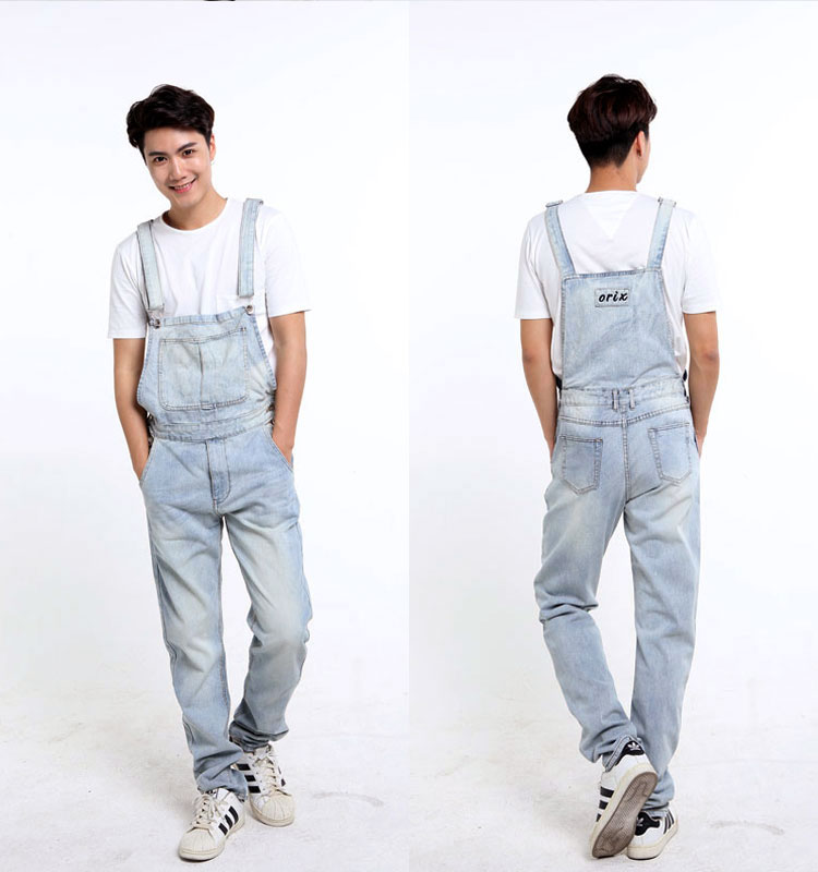 1aeb968462f3e Wholesale Plus Size S 5XL Mens Denim Overalls Dark Washed Bleach ...