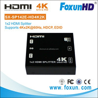 HDMI 2.0 Splitter support 4K(3840x2160)@60hz - one in two out 1x2 HDMI Splitter