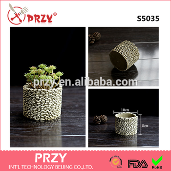 S5035 Silicone Molld Creative Handmade Ceramic Cement Imitation Stone  Multi-meat Green Flower Pots Desktop Pots 3d Vase Mold - Buy Concrete  Flower Pot