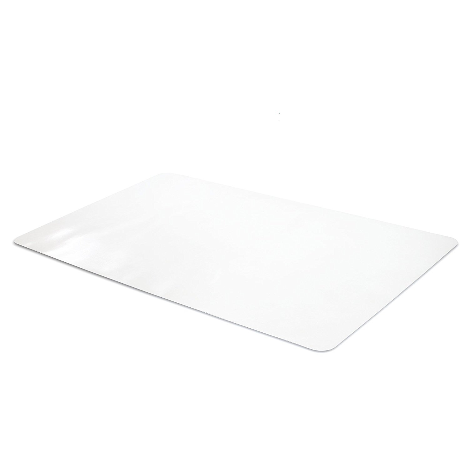 Office Desk Mat Clear Textured - 28 x 18 inch Plastic Computer Mat for Desk