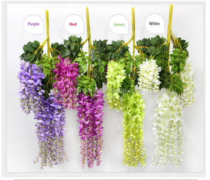 High quality artificial wisteria flower for gaden decoration wedding flower silk flower Artificial wisteria 75/110cm