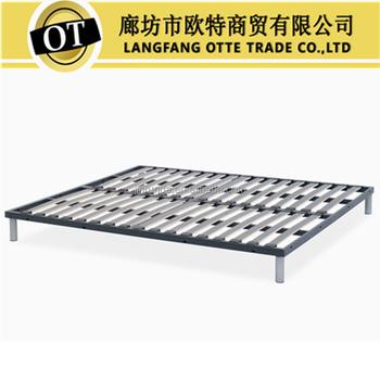 Metal Bed Frame With Wooden Bed Slats - Buy Metal Bed Frame,Slatted ...